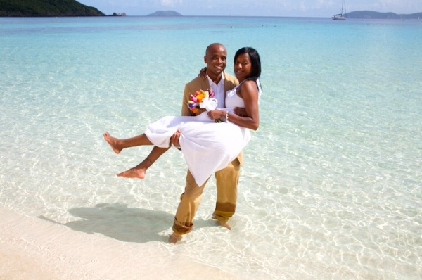 barefoot St John beach wedding