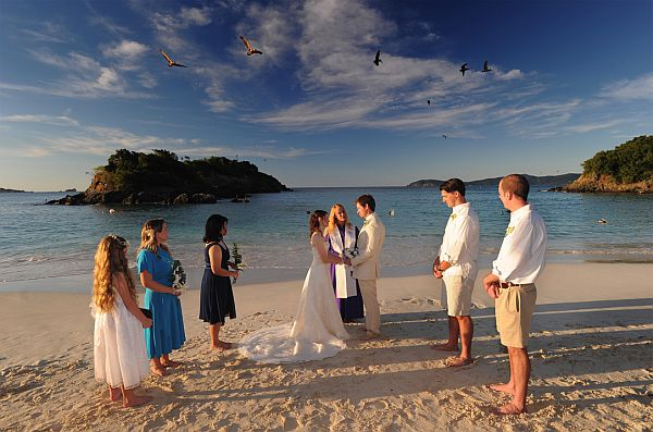 barefoot wedding in the Caribbean